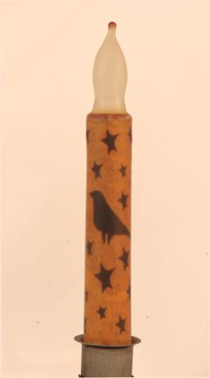 "Crow & Star  6"" LED Taper Candle"
