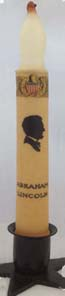 "Taper Candle Abe Lincoln 6"" LED"