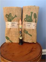Tobacco Cloth with Garden tools