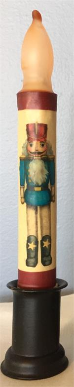 Nutcracker LED Taper Candle