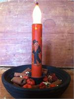 "Scarecrow Taper Candle 6"" LED"